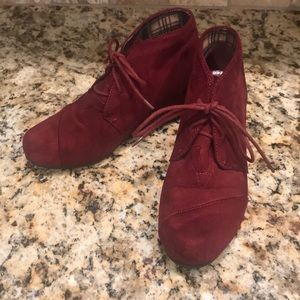 ADORABLE/LIKE NEW Burgundy Boots